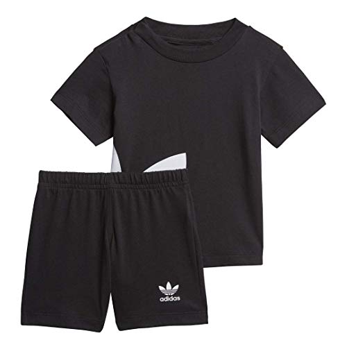 adidas Originals - Set de trébol unisex para niños (talla 3), color negro y blanco