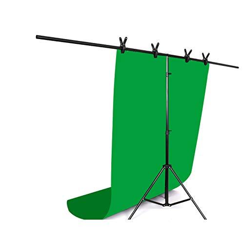 Hintergrund Fotostudio Zelt,T-förmige Fotografie, Dreieckiges Stützdesign, Ganzmetall-Querstange, Teleskop-Stützstange, Stativ-Faltdesign YYFANG ( Color : Green , Size : 70x75cm )