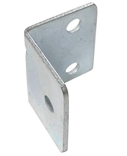 AERZETIX: 30x Escuadras de ángulo refuerzo de fijación metálico 25/25/30mm C41524