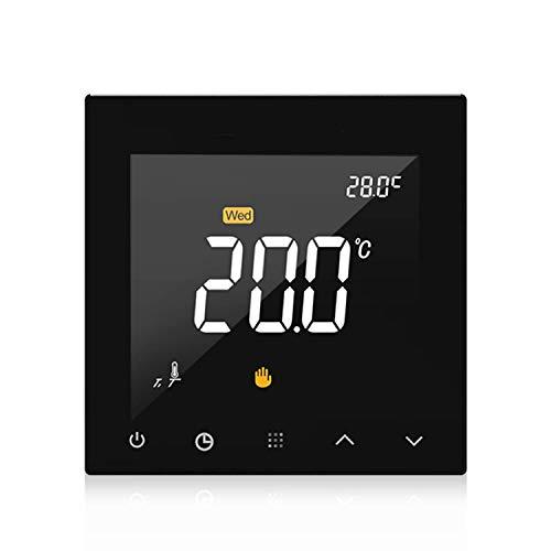 Mozusa WiFi Smart Thermostat Programable Suelo de agua Calefacción Controlador de temperatura Pantalla táctil Pantalla de color WiHT Aplicación Control remoto