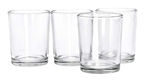 VBS Teelichtgläser, Ø5,1 x 6,3cm, 4 Stück