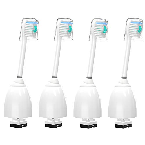 4er-Pack YanBan Zahnbürstenköpfe für Philips Sonicare, Bürstenköpfe für Philips Sonicare Zahnbürstengriff, kompatibel mit Essence, Elite, Xtreme, Advanced und CleanCare