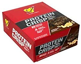 BSN Finish First Protein Crisp Protein Bars, Chocolate Crunch, 2.01 Oz, Box Of 12 Bars