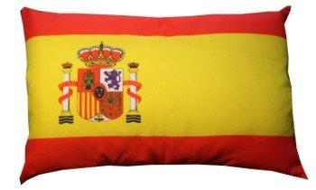 Unbekannt Spanien Kissen Fan Artikel Auto Deko Spanien beide, ca. 28 x 40 cm.