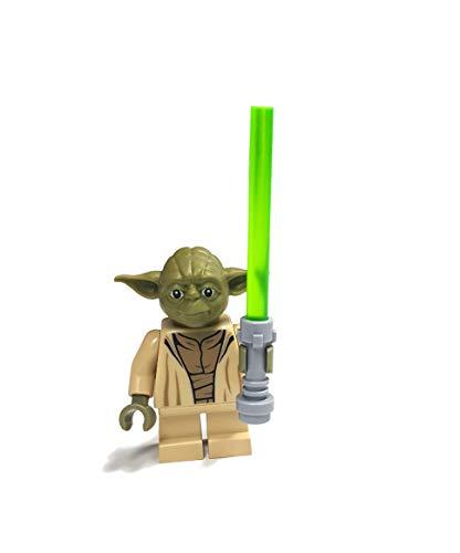 LEGO Star Wars Minifigur Yoda aus Set 75168 mit GALAXYARMS Laserschwert