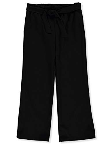 Miss Majesty Big Girls Front Tie Palazzo Pants - Black, 7-8