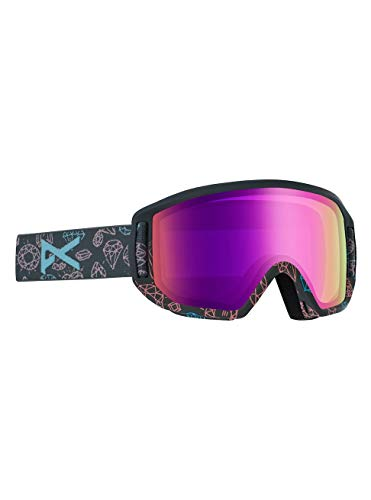 Anon Mädchen Relapse Jr Mfi Snowboard Brille, Bling/Pink Amber