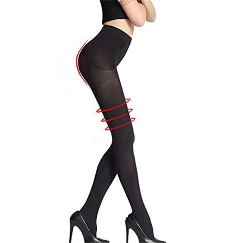 Damen Fit in Form Strumpfhose Stützstrumpfhose,Frau Shapewear Bauchweg Leggings Figurformende Body Shape Kompressionsleggins Bauch Weg Shaping Leggins Hose (Schwarz)