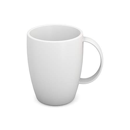 Ornamin Becher mit Henkel 260 ml weiß (Modell 420) / Mehrweg-Becher Kunststoff, Kaffeebecher