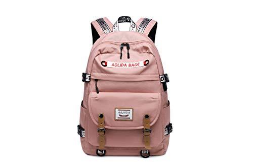 Girls' & Boys' Vintage Waterproof School Backpack 15 Inch Large Laptop Backpack Travel Bag Leisure School Work Backpack with USB Port