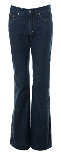 Take Two Damen Jeans Boot Cut normaler Bund -Virus- Dark Blue W29 L34