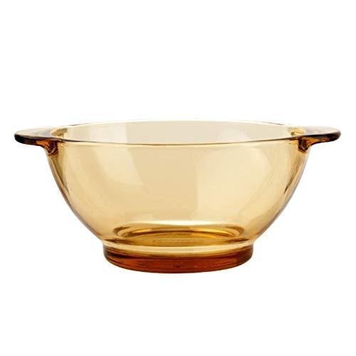 Nuokix Cuenco de cerámica tazón tazón Resistente al Calor Ensalada de Uso doméstico Binaural tazón de Sopa Plato de Arroz tazón de Fideos vajilla tazón de café 5in Regalo vajilla vajilla