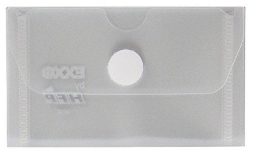 exxo by HFP tarjeta de visita con cierre de velcro, 10unidades), color transparente 105 x 63 mm