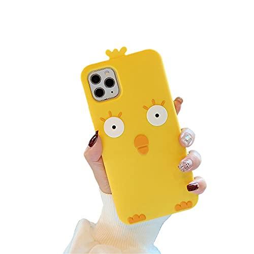 Amarillo Pollo Lindo Fundas y carcasas para teléfonos móviles Compatible iPhone 11 Pro MAX Adecuado Para Todos Los Modelos De La Serie IPhone de Silicona Anti-caída Personalidad Carcasa