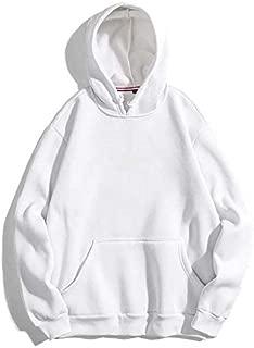 THE SV STYLE Unisex Plain White Hoodie/Plain White Hoodie/Graphic Printed Hoodie/Hoodie for Men & Women/Warm Hoodie/Unisex Hoodie