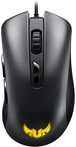 ASUS TUF Gaming M3 - Souris filaire pour gamer avec design ergonomique, éclairage RGB, capteur 7000 DPI, revêtement durable, switches ultrarésistants, 7 x boutons programmables et Aura Sync
