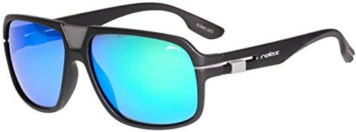 RELAX Herren Sportbrille Sonnenbrille UV400 Schutz Polarisiert Verspiegelt R2304C