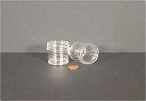 """Learn More About Jar, Wide Mouth, 30mL (1oz), PS, 43mm Opening, 1 3/8 x 1 7/16"""" (Screw Cap Package..."""