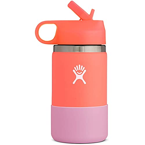HYDRO FLASK Hibiscus Peach Kid's Wide Mouth 2.0 Bottle, 1 EA