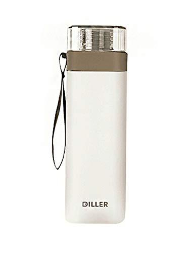 LLJPFD7J 700ml Flasche mit Waage ohne BPA Tritan Material mit großem Fassungsvermögen Sportwasserflasche, geeignet for Erwachsene und Kinder Outdoor Sport Fitness Radfahren (Color : Gray)