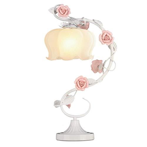 BXU-BG Lámparas de mesa, simple Rose Garden regalo de boda Lámparas de mesa, lámpara de cabecera del dormitorio, lámpara creativa, Continental decorativo Flores lectura luz de la noche