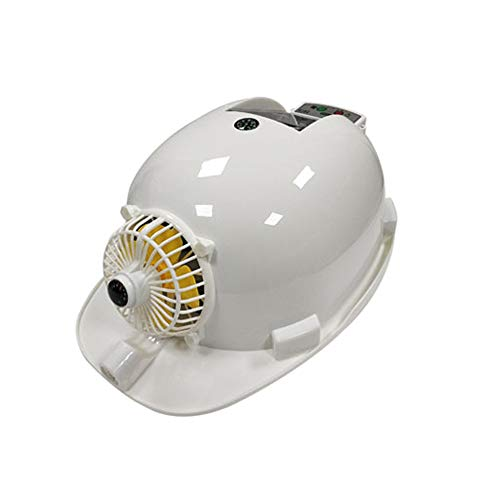LSX-Hard hat Safety helmet - summer ventilation cooling cap anti-smashing lighting rechargeable with mobile power construction construction dual power supply solar fan hat helmet