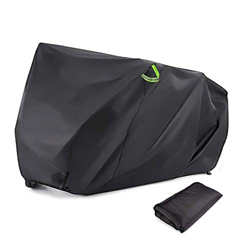 Bike Cover for 2 Bikes, Outdoor Bicycle Covers Heavy Duty 210D Oxford XXL Wheel Rain Cover with Resist Strong Winds Easy Fold Carry Around Cycling Covers for Mountain Bike Road Bike Electric Bike