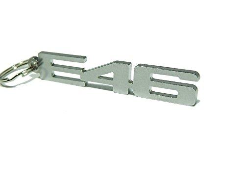 Portachiavi 'E46', in acciaio inox lucido di alta qualità