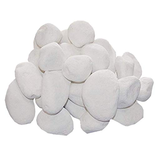 30 Deko-Steine weiß - für Bio-Ethanol-Öfen und Gelkamine