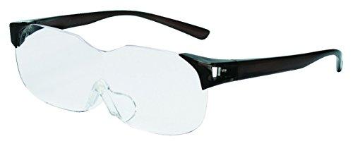 RESA(レサ) メガネタイプルーペ めがね拡大鏡 倍率1.6倍 ブラック SM-01-1