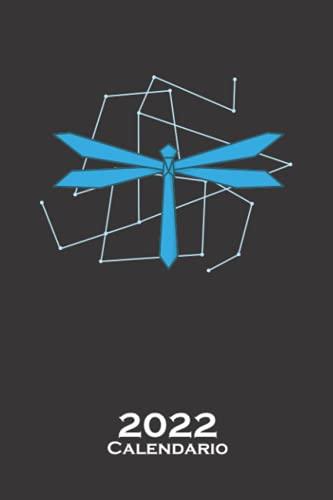 Libélula de origami como papel Calendario 2022: Calendario anual para Abanicos japoneses de papel plegado