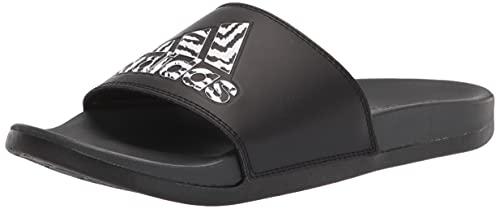 adidas Unisex Slide Sandal, Black/Black/Carbon, Numeric_9 US Men