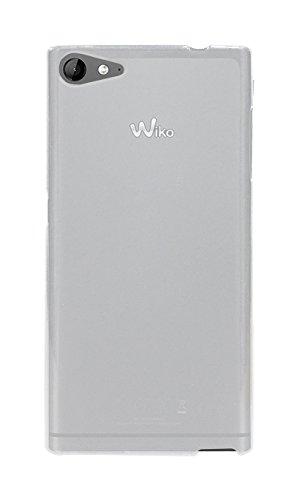 Phonix Gel Protection Plus Etui mit Bildschirmschutzfolie für Wiko Highway Star 4G transparentes weiß
