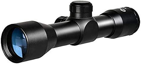 CVLIFE 4x32 Compact Rifle Scope Crosshair Optics Hunting Gun Scope with 20mm Free Mounts