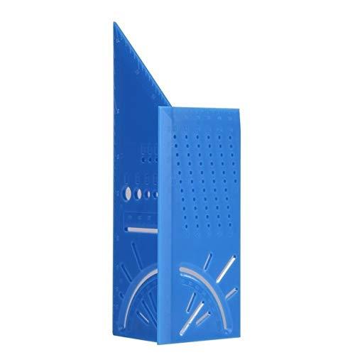 WFBD-CN Holzschnitzwerkzeuge Travail du Bois Charpentier Scriber règle en Aluminium de Type T en Alliage de Conception Calibre Mark Wood Line Calibre de Mesure 20x9.8cm Outil Kit d'outil Rotatif