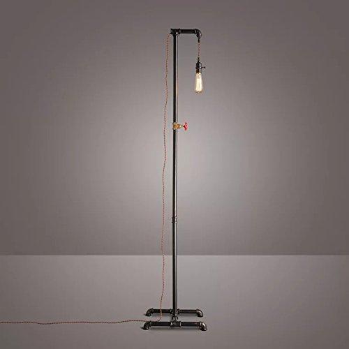 Vloerlamp Industriële Retro Waterpijp Vloerlamp Oude Ambacht Zwart Smeedijzeren Vloerlamp voor Slaapkamer Woonkamer Studie Zolder, Φ40cm H178cm E27
