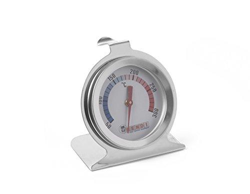 HENDI Ofenthermometer, Bratenthermometer, Fleischthermometer, thermometer, Messbreich 50°C bis 300°C, Graduierung 10°C, ø60x(H)70mm, Edelstahl