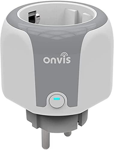 ONVIS Enchufe inteligente con wifi HomeKit, enchufe inteligente con Siri Alexa Google, enchufe inteligente para el hogar compatible con temporizador, mide el consumo de energía 2,4 GHz