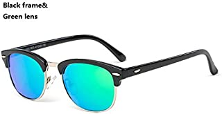 GR Child Sunglasses New Girls Kids Baby Goggles UV400 Mirror Stylish Sunglasses Coating Colorful Sunglasses Boys (Color : Green)