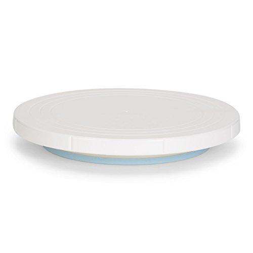 patisse Tortenplatte drehbar, Kunststoff, Weiß, 27 x 27 x 27 cm