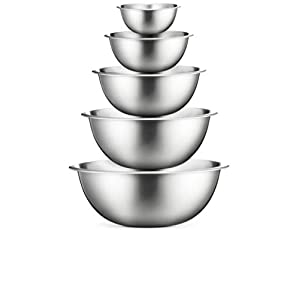 Stainless Steel Mixing Bowls (Set of 6) Stainless Steel Mixing Bowl Set – Easy To Clean,...