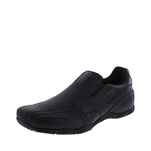 safeTstep Slip Resistant Men's Black Men's Simon Slip-On 12 Regular