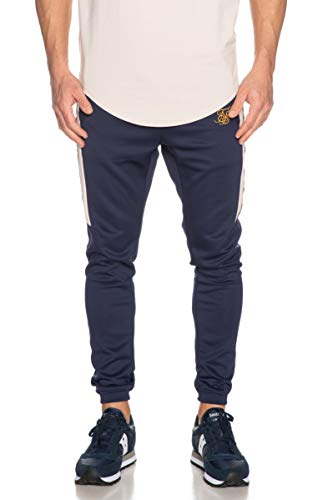 Sik Silk Pantalón Hybrid Panel Tape Fitted Navy Hombre Small Azul