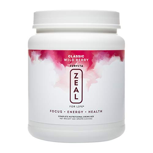 Zurvita- Zeal for Life- 30-Day Wellness Canister- Wild Berry (Classic)- 420 grams