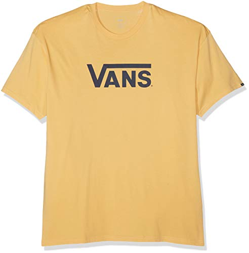 Vans_Apparel Classic T-Shirt, Jaune (New Wheat-Dress Blues Ru1), Large Homme
