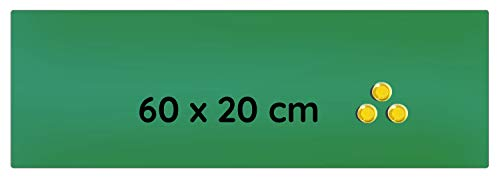 Lüllmann Memoboard Glas Magnettafel 60x20x0,4cm Glastafel Glasboard Whiteboard Wandtafel Magnet-Board (607402 Glastafel 60x20x0,4cm, grün)