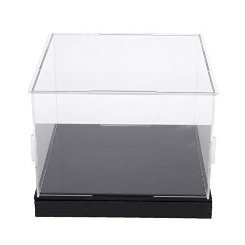 SDENSHI Vítrina de Exposición de Acrílico Transparente Caja de Presentación Antipolvo Estuche de Protección para Mini Figuras - 30x30x20cm