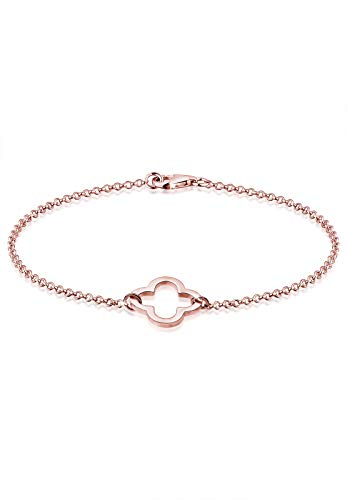Elli Armband Damen Kleeblatt Cut-Out Symbol in 925 Sterling Silber