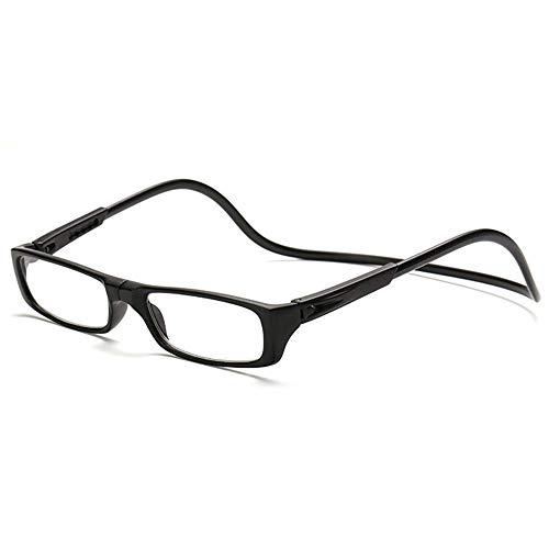 Keepmoving Herren Damen Designer Lesebrillen Lesehilfe Brillen Augen mit Magnet +1,0 bis +4,0(2 Kaufen, 3 Bekommen! 3 Kaufen, 5 Bekommen!Super Geschenk!!!) (Schwarz, 2,5)