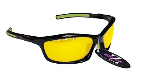 Gafas de sol para la nieve RayZor, 100 % protección UV400, con ventilación, cómodas y resistentes, antideslumbramiento, para esquís, moto de nieve y snowboard, Black 401